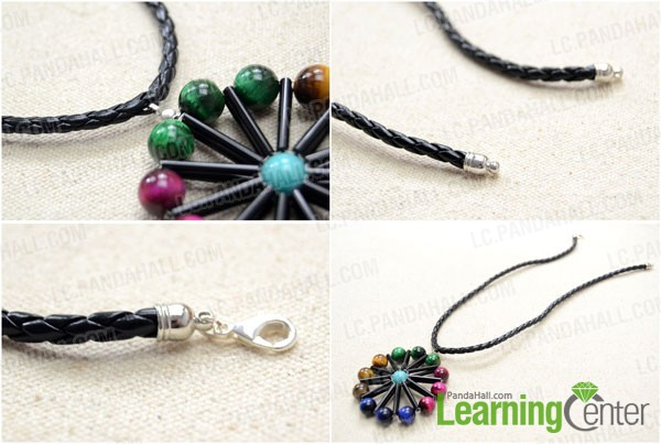 Add the pendant to a leather cord