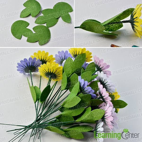 Add green leaves