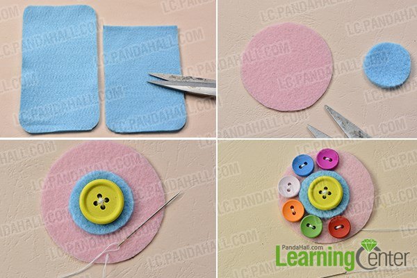 sneakers for cheap 16822 91d29 How to Make a Lovely Felt Phone Pouch with Button Decorated at Home ...