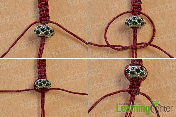 make the rest part of the square knot bracelet