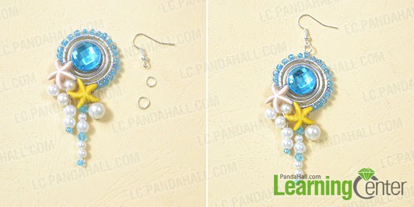 link the beaded drop to an earring hook