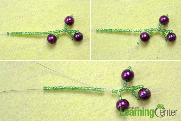 Make the branches of the beautiful beaded earrings design