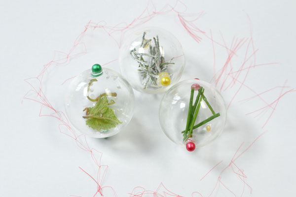 final look of the glass bead plant home décor crafts