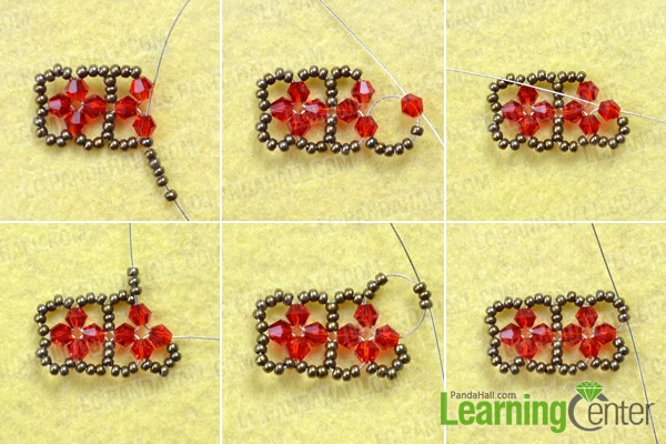 Make the basic pattern for the beaded cube tutorial