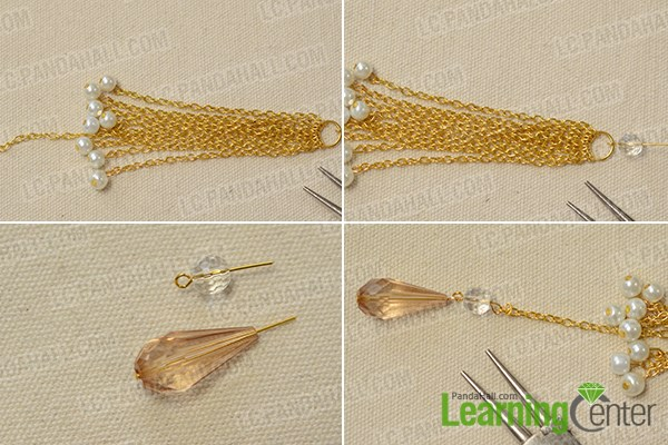 Add glass bead dangle