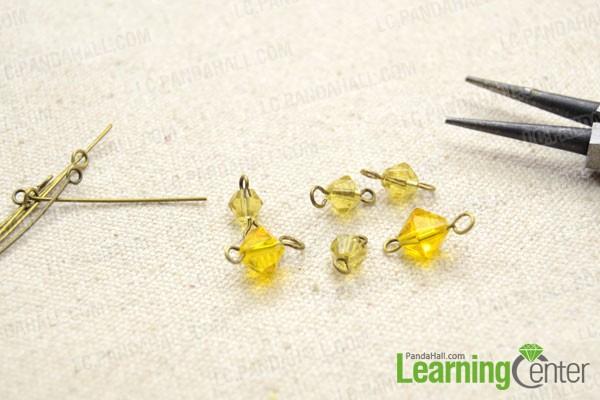 make six crystal bead links