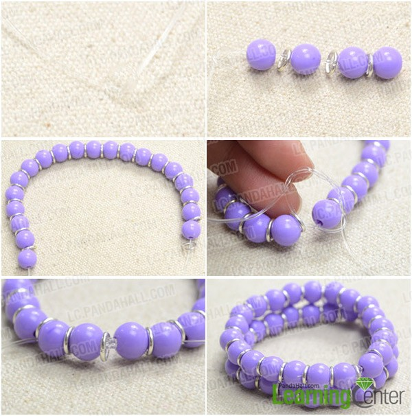 Step 1: Make two purple bracelets