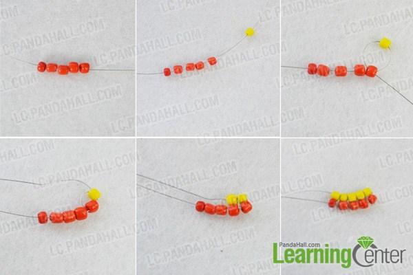 make basic wide stitch beading bracelet