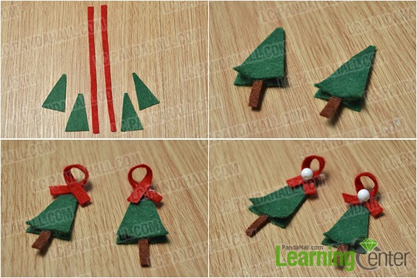 make two felt trees and add beads