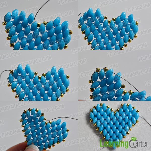 Step 4: Finish the beading heart