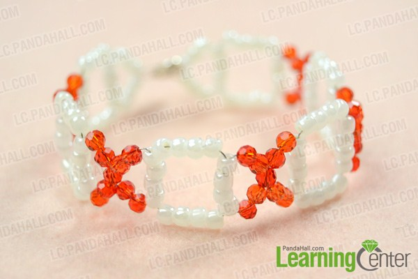 finish making your own beaded bracelet