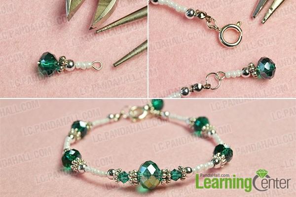 Finish the simple beaded bracelet