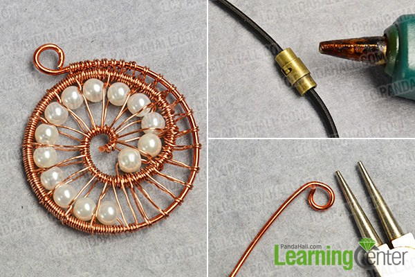 make the rest part of the wire wrapped pendant necklace