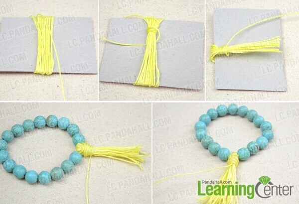 make pretty tassel with threads