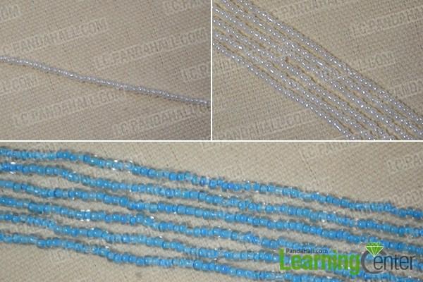 make seed bead strands