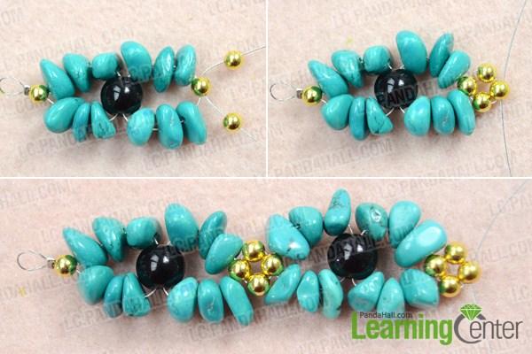 Make basic turquoise necklace design