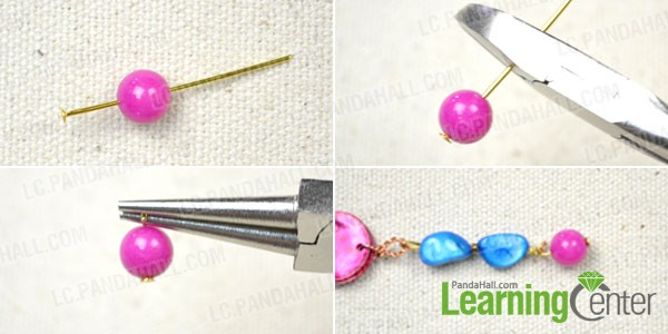 make bead link for the simple beaded earrings