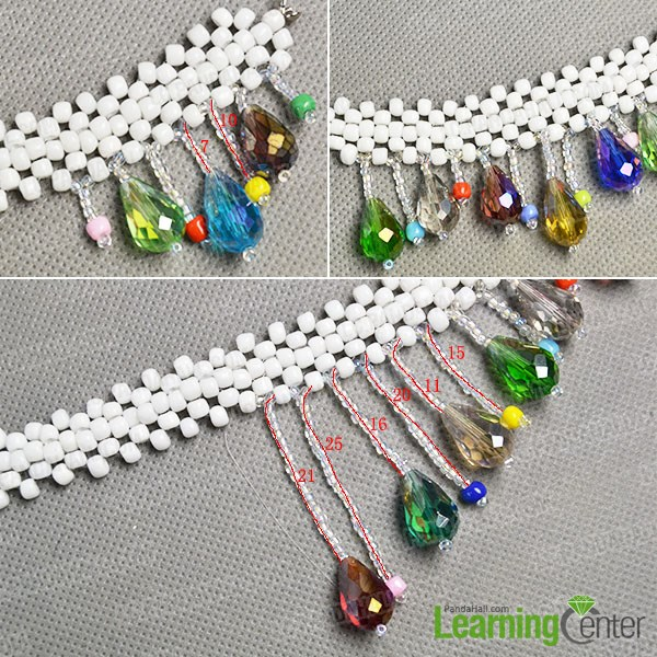 Finish the right part of the necklace