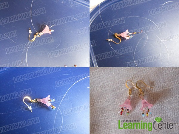 repeat to finish the flower drop earrings
