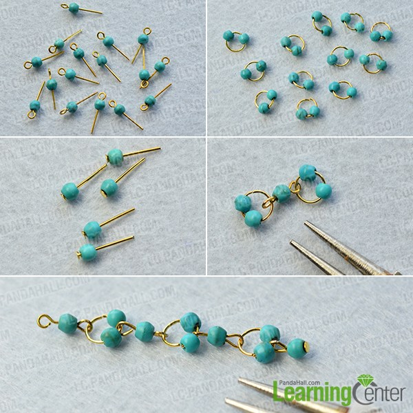 Make the basic turquoise bead patterns