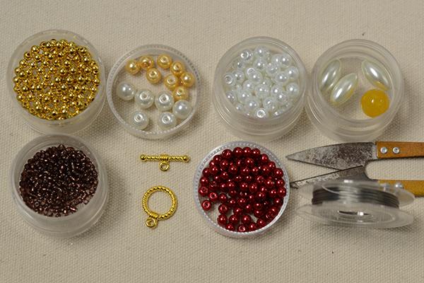 supplies needed in making the handmade cross pearl bracelet