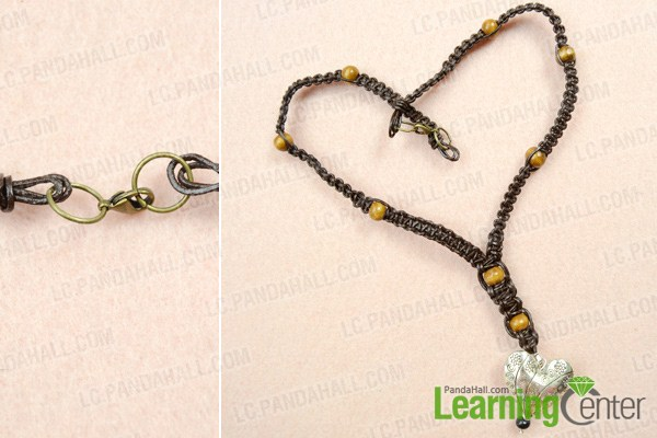 finish leather and bead necklace