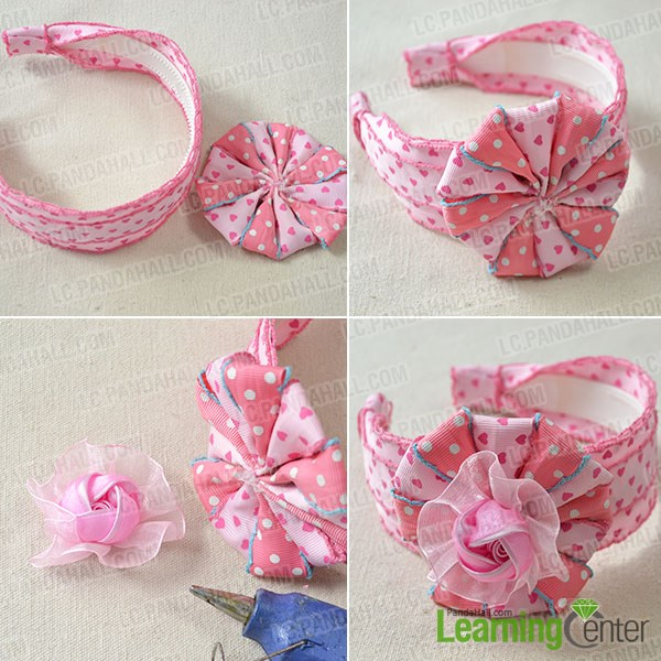 ribbon flower making instructions