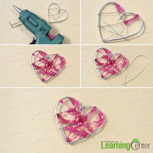 Add hot pink glue ornament