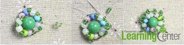 make the second seed bead loop