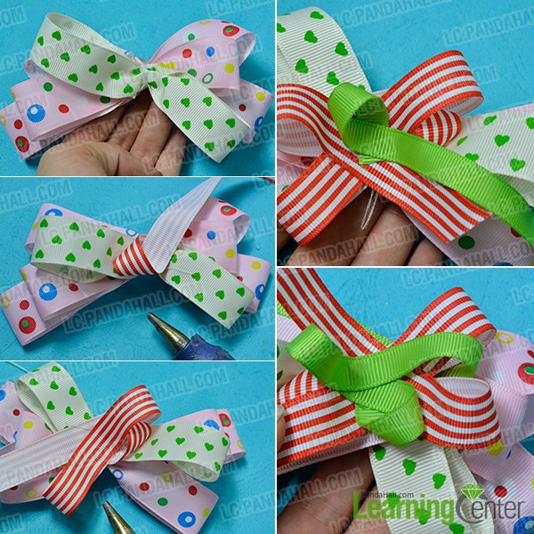 make ribbon hair bow2