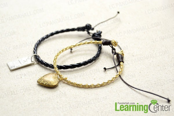 Make another matching leather bracelet