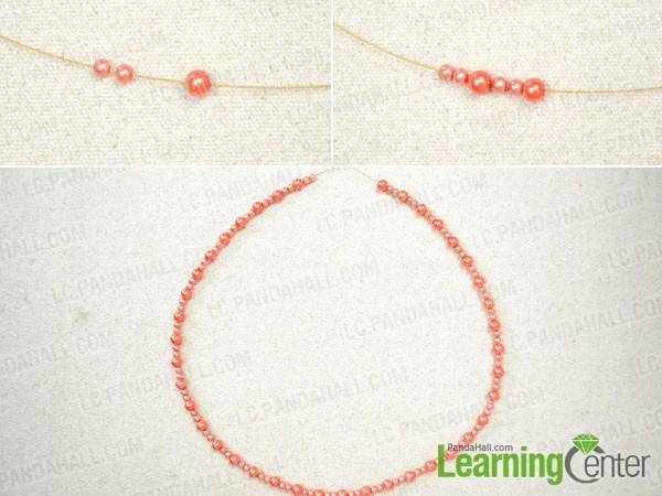 make the body for beaded fringe necklace