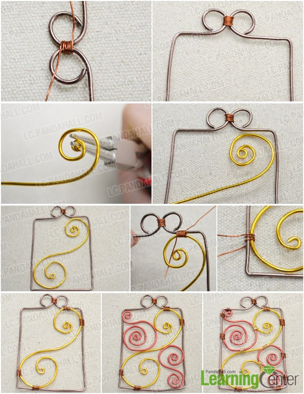 Step 2: Wire wrap carving patterns