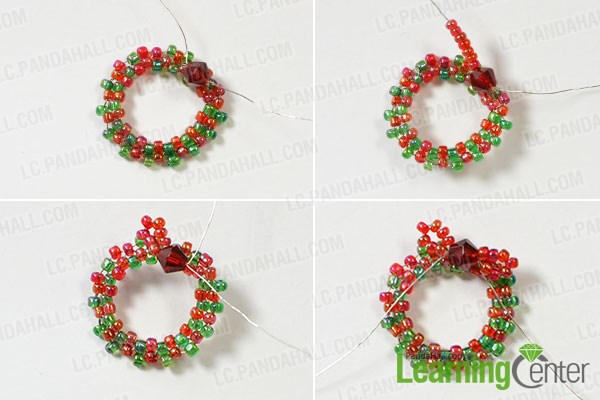 Bead a bow pattern