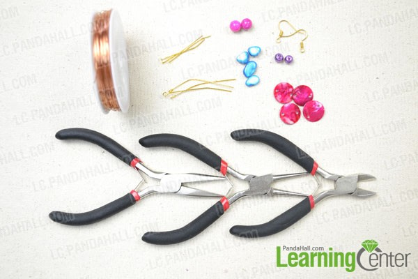 materials in making simple beadd earrings