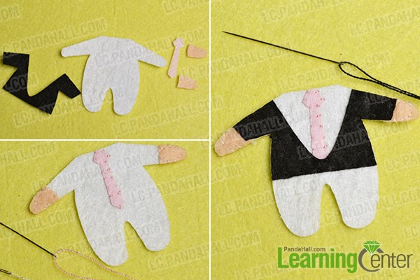 make the sixth part of the lovely felt couple pendants