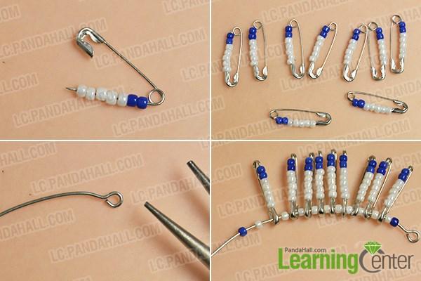 Make the basic safety pin patterns