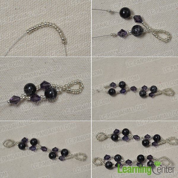 Bead necklace chain pattern