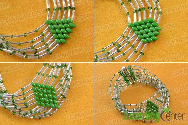 Finish this bulge beads bracelet
