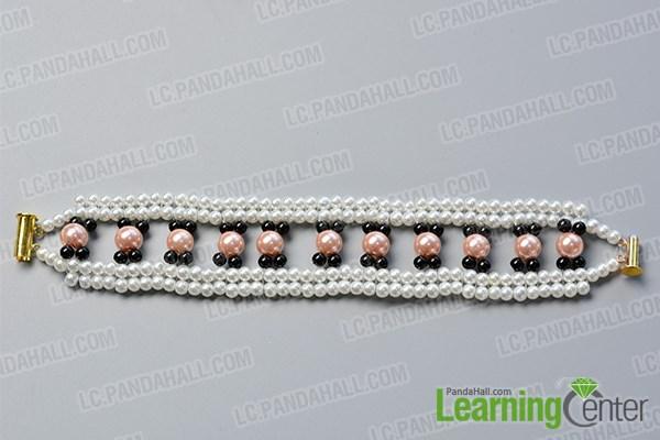 Step 5: Finish this beaded chain bracelet