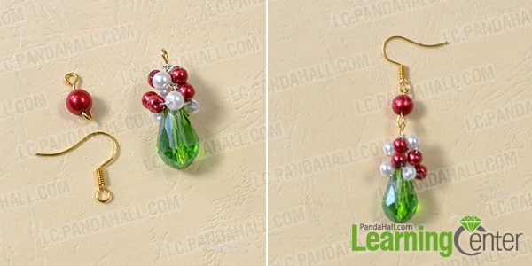 make the rest part of the red and green earrings