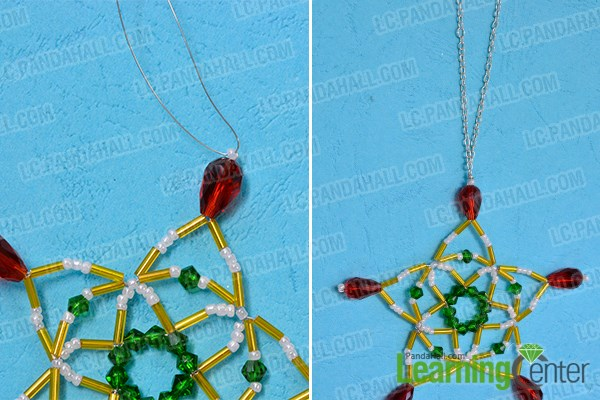 Finish the snowflake pendent necklace