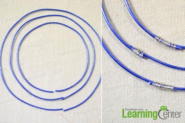 Make three main circles