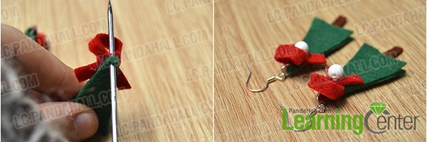 attach earring hooks