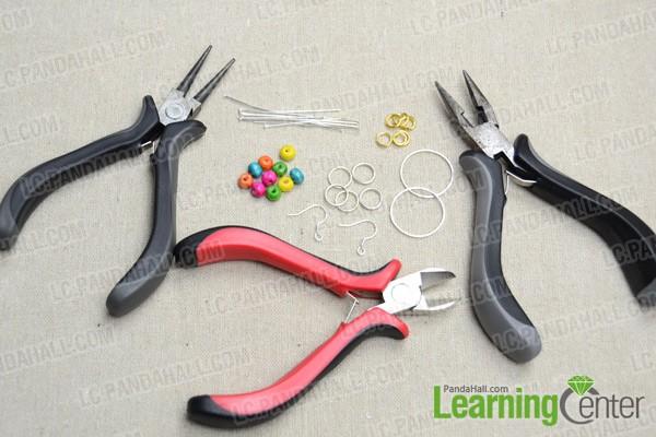 Necessities for rainbow loom earrings: