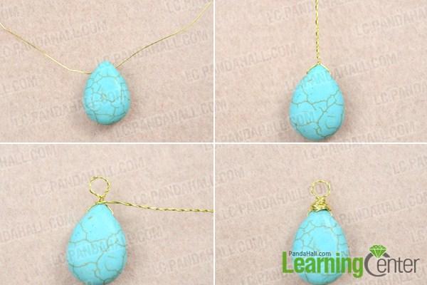 Instruction on DIY turquoise necklace