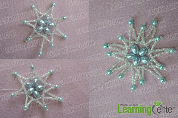 Repeat the step 3 to add another beaded star