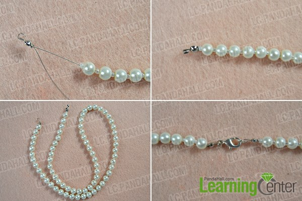 How to Make Fashion White Pearl Body Necklace Jewelry 2