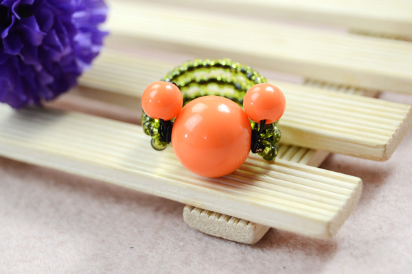 Now the final look of cut orange Mickey Mouse ring: