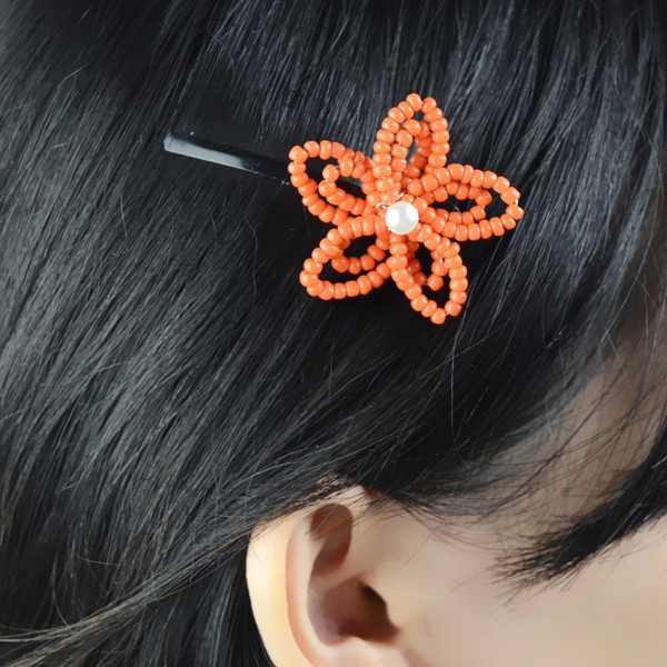 how to make flower hair clip